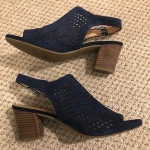 Navy Blue Franco Sarto Sling Back Heel Sandal